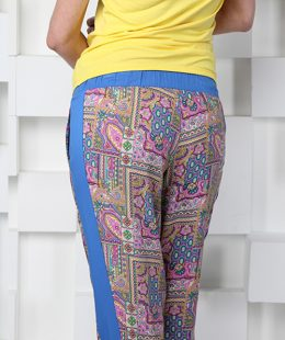 maternity pants pink and blue