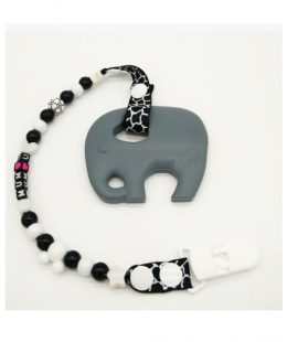 silicone teether - grey elephant