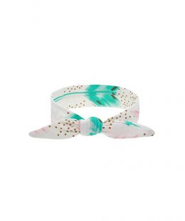 baby knot headband white
