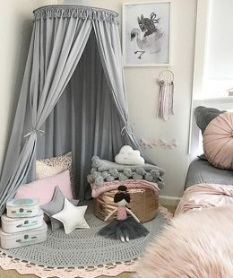 kids bed canopy freddie and ava - grey1