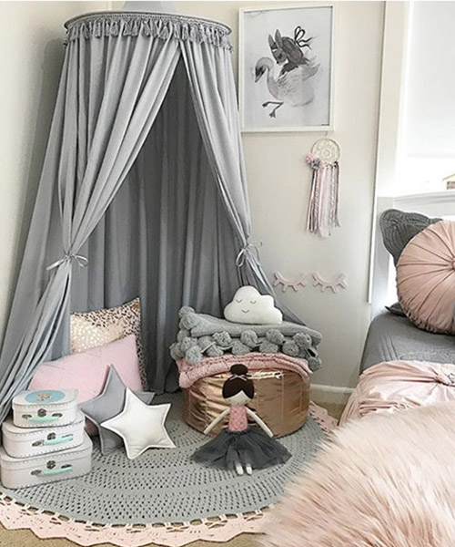 Bed Canopy Light Grey Play Canopy Mum And Baby Boutique