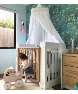 kids bed canopy freddie and ava - white3