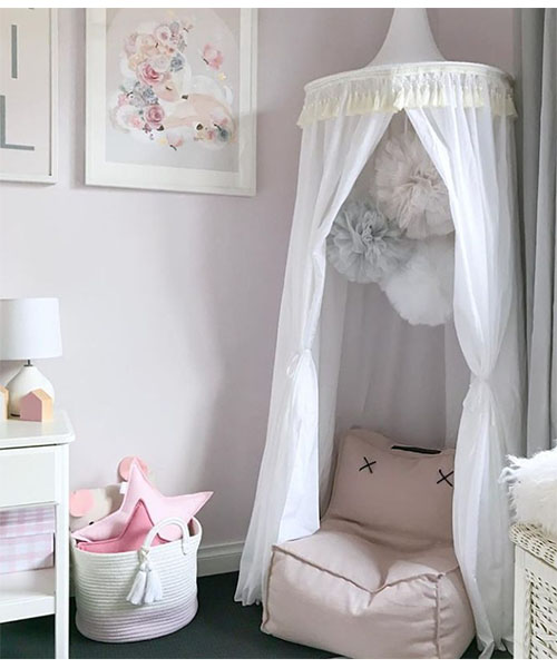 white4 & Bed Canopy White | Play Canopy | Mum And Baby Boutique