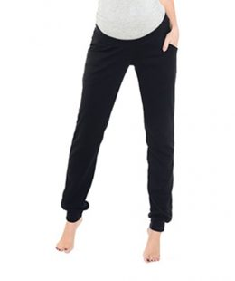 maternity casual pants balck