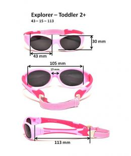 explorer toddler sunglasses size guide