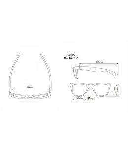 surf 2+ measurements - kids sunglasses nz