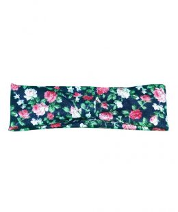 knot headband black floral