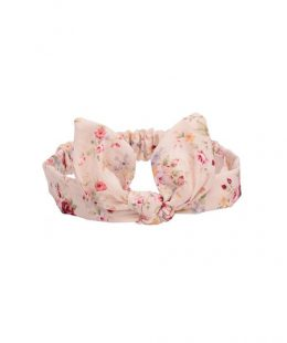 girl knot headband nz roses on cream
