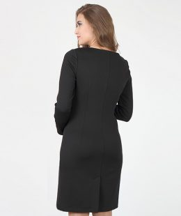 formal maternity dress alen black