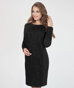formal maternity dress - alen black