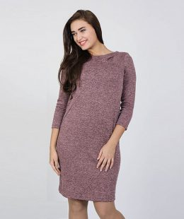 bodycon pregnancy dress nz - annita dusty pink