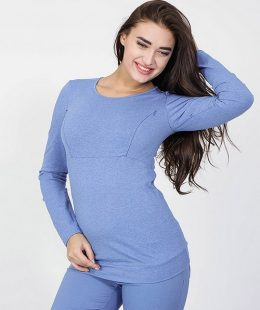 top for breastfeeding nz caroline blue