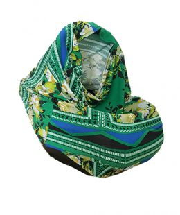 breastfeeding scarf, capsule cover - floral green