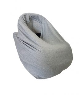 breastfeeding scarf, capsule cover - grey
