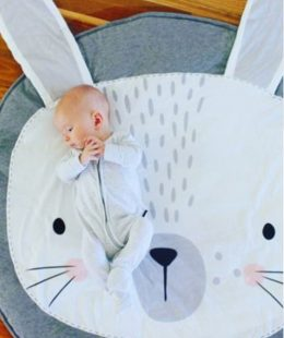 baby play mat nz - grey bunny