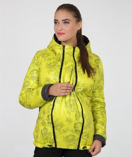 maternity puffer jacket floyd yellow-grey