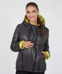 maternity puffer jacket floyd yellow-grey