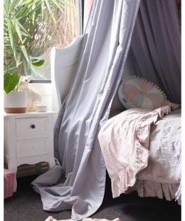 freddie and ava bed drape canopy grey