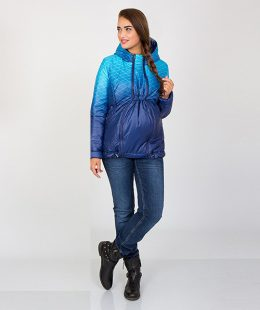 maternity puffer jacket blue