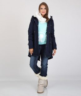 maternity parka jacket blue