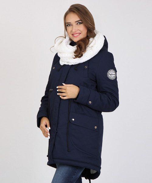6eff59dc6aed8 Maternity Parka Jacket Inira – Navy Blue