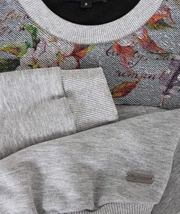 maternity top ritta grey - mum and baby boutique nz