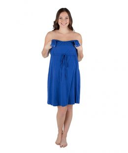 babe be mine labor and delivery gown blue - mum and baby boutique
