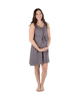 babe be mine labor and delivery gown grey - mum and baby boutique