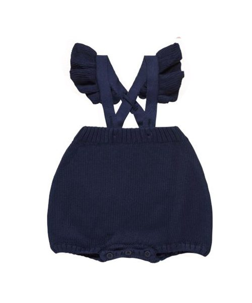 knitted bloomers navy