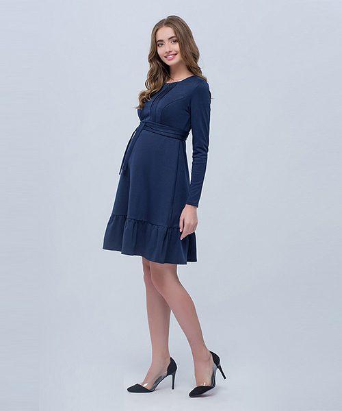 50dd6b957d4 Maternity and Breastfeeding Dress Michelle – Navy Blue
