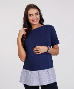 maternity tunic dress Danielle blue - mum and baby boutique