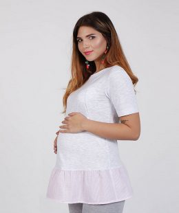 maternity tunic dress Danielle grey - mum and baby boutique