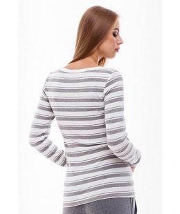 grey long sleeve breastfeeding top