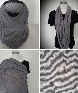 Dark stripes breastfeeding cover