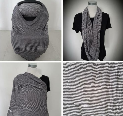 Dark stripes breastfeeding cover