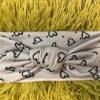 Grey Heart Baby Headband