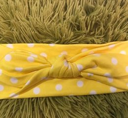 Bright Yellow Baby Headband