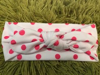 Pink Dots Baby Headband