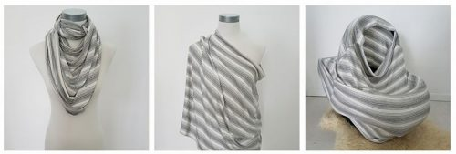 Classy Grey Breastfeeding Coverng cover